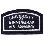 University Of Birmingham Air Squadron Cloth Patch