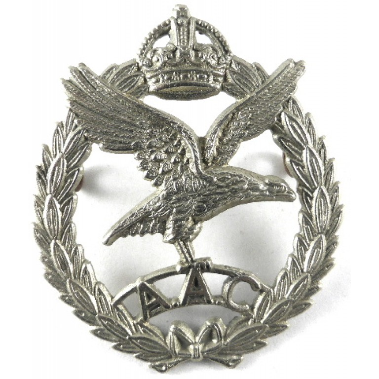 Army Air Corps White Metal Pre 1953 Cap Badge