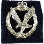 Army Air Corps E11R Officers Silver Plated Cap Badge