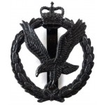 Army Air Corps Subdued Metal Cap Badge