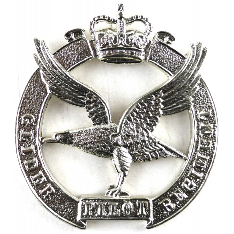 Glider Pilot Regiment E11R White Metal Cap Badge