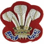Wessex Yeomanry Nco`s Bullion Wire Arm Badge 55mm