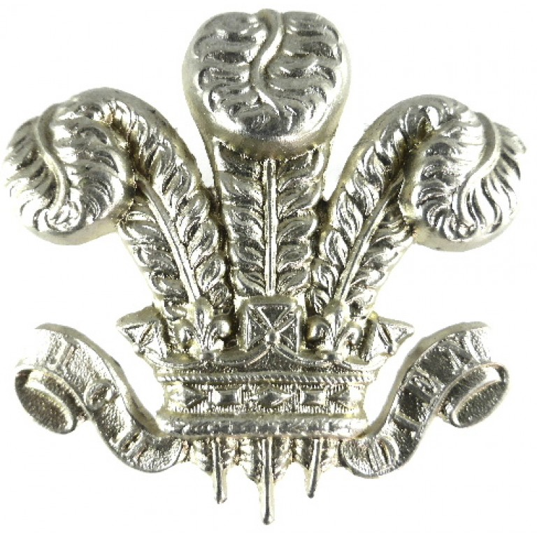 Yorkshire Hussars Nco`s White Metal Arm Badge 53.5mm