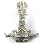 11th Hussars NCo`s Cast Silver Arm Badge
