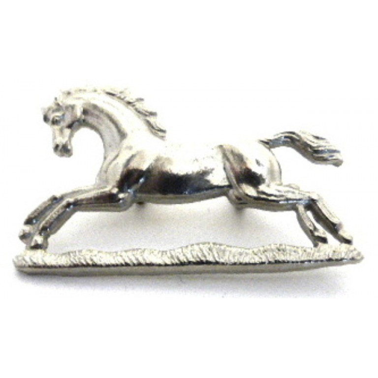 3rd Kings Own Hussars White Metal Arm Badge