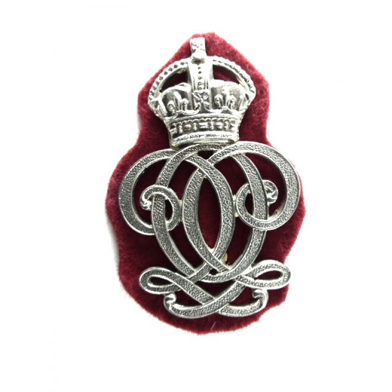 7th Queens Own Hussars NCo`s White Metal Arm Badge
