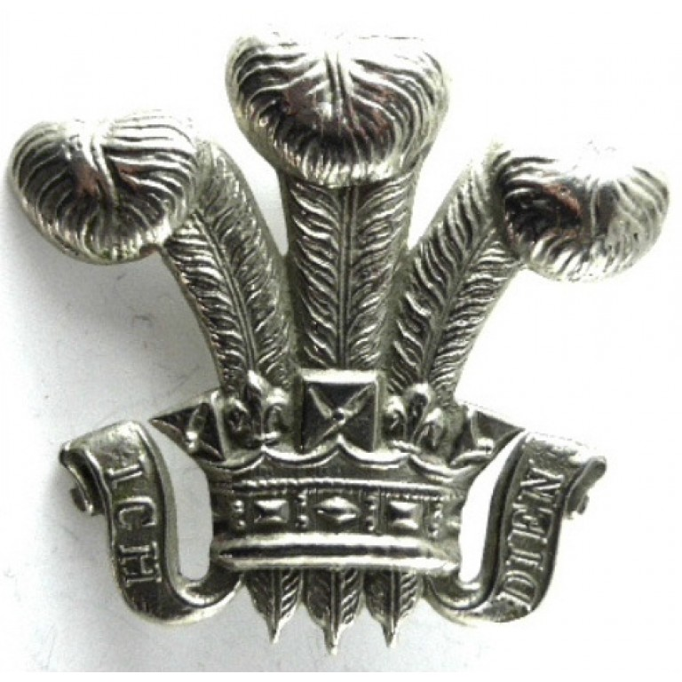 3rd Dragoon Guards NCo`s Cast White Metal Arm Badge 53 mm Tall