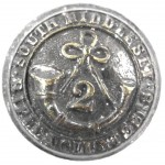2nd South Middlesex Vols. Black Button 24mm