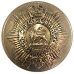 Worcestershire Regt. Officers Brass Button 25mm