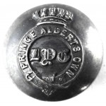 Leicester Yeomanry Cavalry Silver Plated Victorian Button 21mm