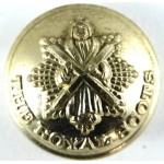Royal Scots Or`s Large Gold Anodised Aluminium Button 26mm