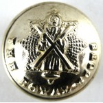 Royal Scots Or`s Small Gold Anodised Aluminium Button 18.9mm
