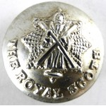 Royal Scots Or`s Pipers Small Silver Anodised Button 18.9mm