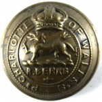 Royal Berkshire Regiment Or`s Large Brass Button 25.8mm