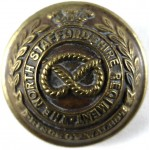 The North Staffordshire Regt.Officers Large Brass Button 26mm