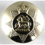 Queens Surrey Regiment Anodised Aluminium Small Button 19mm