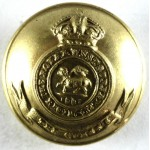 Queens Regiment Pre 1953 Small Brass Button 25mm