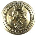 The Kings Own Royal Lancaster Regt.Small Brass Button 19mm