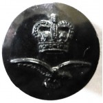 Royal Air Force Black Plastic Button 17.5mm