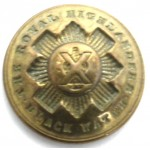 Black Watch Royal Highlanders Post 1881 Officers Brass Button 25.25mm