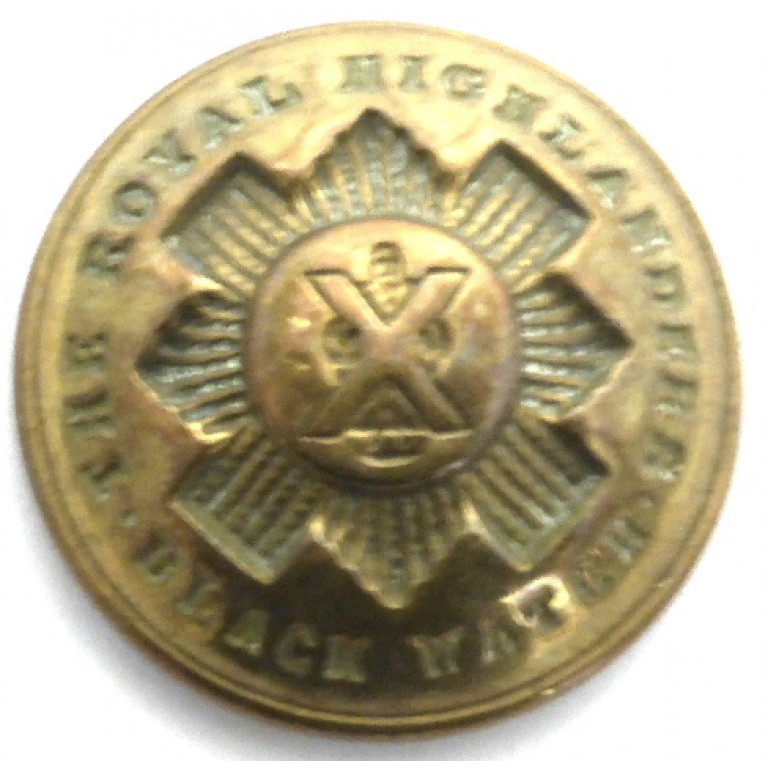 Black Watch Royal Highlanders Post 1881 Officers Brass Button 25.5mm