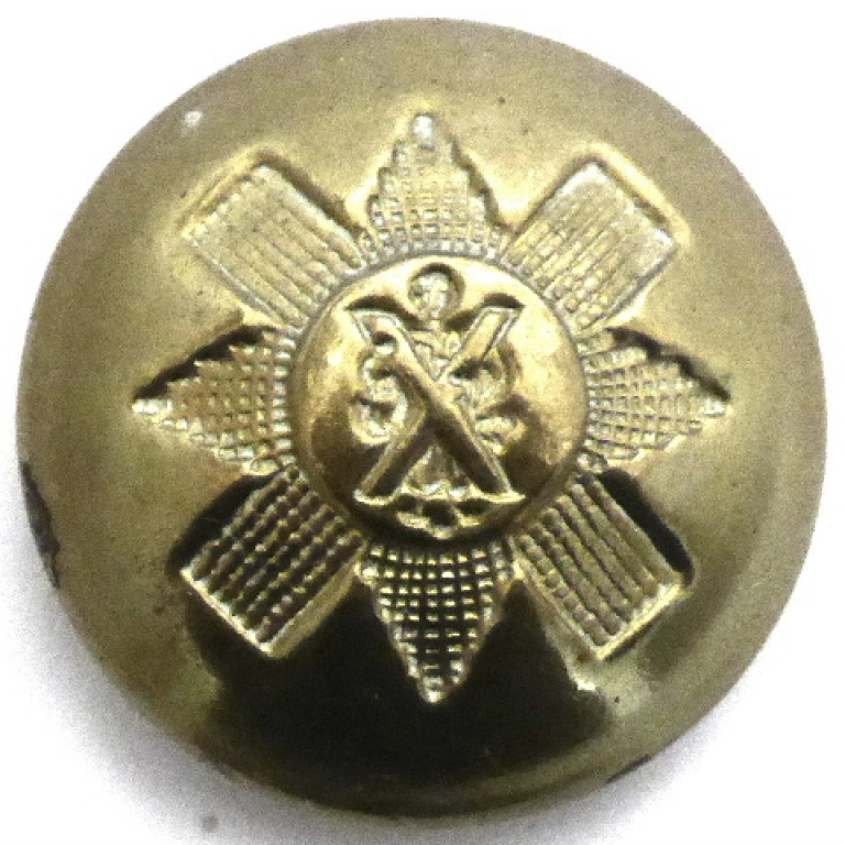 Black Watch Royal Highlanders Post 1934 Or`s Brass Button 25mm