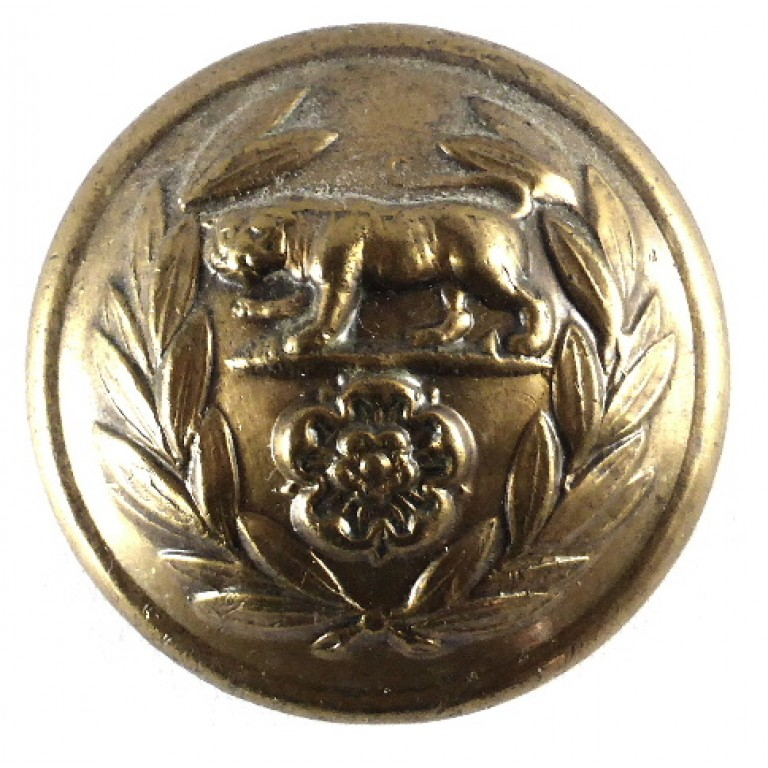 Royal Hampshire Regt Officers Large Brass Button 25mm
