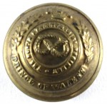 North Staffordshire Regt. Officers Small Brass Button 19.5mm