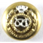 North Staffordshire Regt. Officers Mess Dress Gilt Button 15.4mm