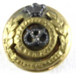 North Staffordshire Regt. Officers Mess Dress Gilt Button 14.7mm
