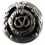 North Staffordshire Regt. Officers Bronze Mess Dress Button 14.5mm