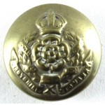 Derbyshire Yeomanry Officers Brass Button 18mm