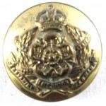 Derbyshire Imperial Yeomanry Officers Brass Button 16mm