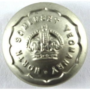North Somerset Yeomanry Or`s White Metal Button 23mm