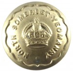 North Somerset Yeomanry Or`s Brass Button 23mm