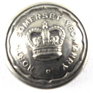 North Somerset Yeomanry Officers Silver Plated Button 19mm