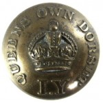 Queen`s Own Dorset Imperial Yeomanry Or`s Large Brass Button 23mm