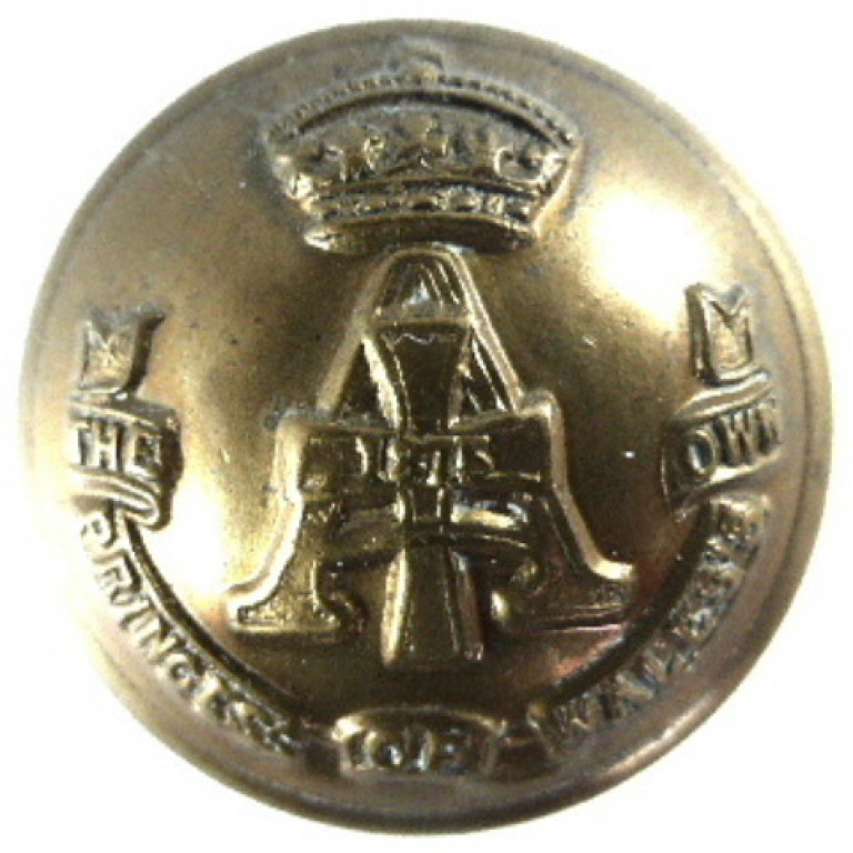 Yorkshire Regiment Or`s Large Brass Button 25mm