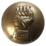 Royal Armoured Corps O`rs Large Brass Button 25 mm