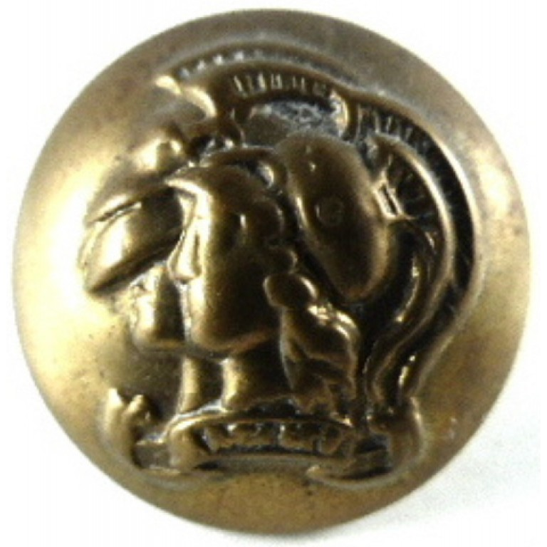Artists 28th London Regiment Officers Brass Button 17 mm