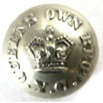 Queens Own Regt. Yeomanry Cavalry (Staffordshire) Or`s White Metal Button 16 mm