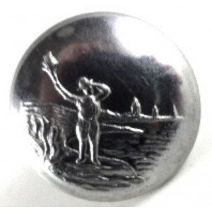 Royal Observer Corps Officers Chrome Button 16.8 mm