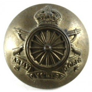 Army Cyclist Corps OR`s Large Brass Button 25.6 mm