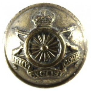 Army Cyclist Corps OR`s Brass Button 19.3 mm
