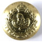 Queens Own Worcestershire Yeomanry Brass Officers Button  19mm