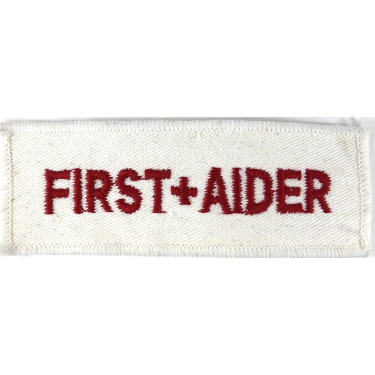 First Aider Cloth Breast Badge