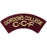 Gordon`s College C.C.F. Cloth Shoulder Title