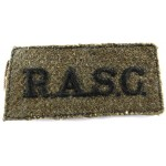 Royal Army Service Corps Cloth Slip On Title