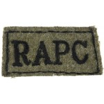 Royal Army Pay Corps Cloth Slip On Title