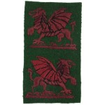 38th Welsh Division Pair Of Cloth Badges
